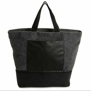 NEW! DSW Gray Felt Large Tote Bag